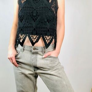 VTG 90s Ash Gray BF Jeans by Lee•